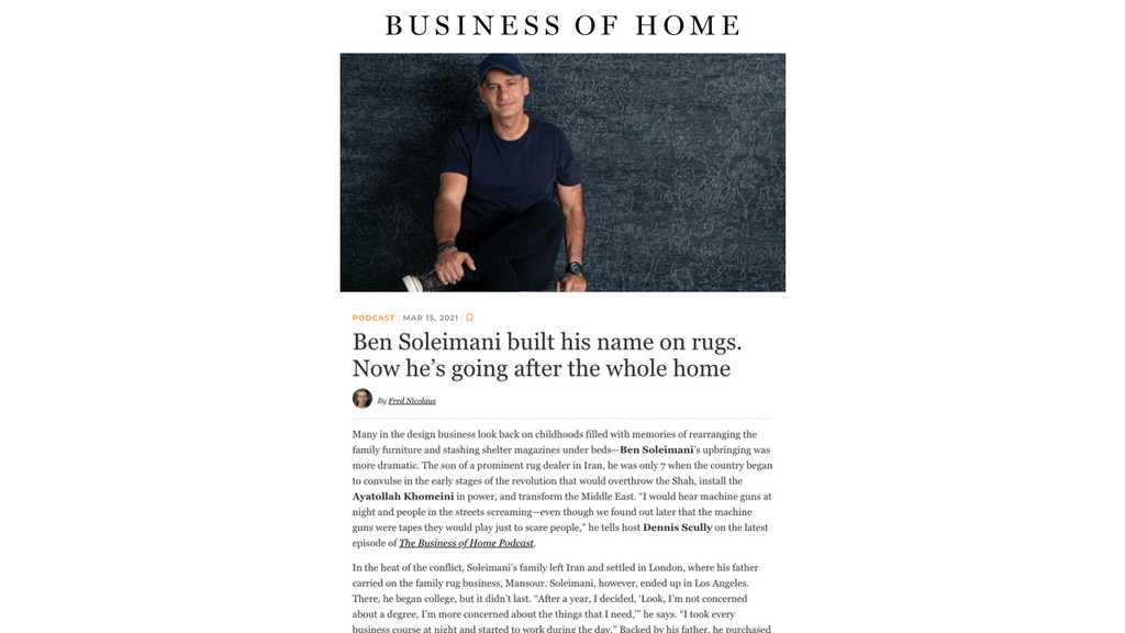 As featured in Business of Home | Podcast